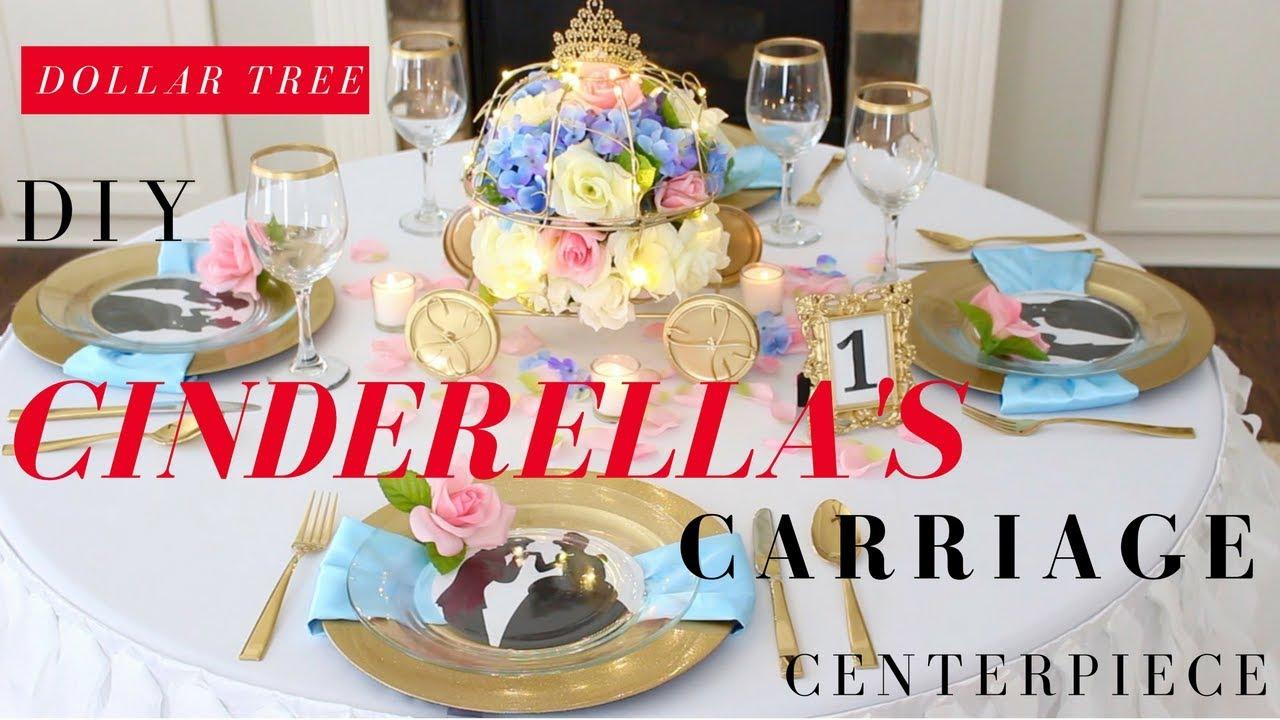 Diy Cinderellas Carriage Centerpiece Cinderella Party Ideas