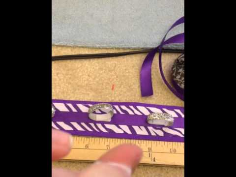 DIY Cheer Bow holder Backpack Strip - YouTube