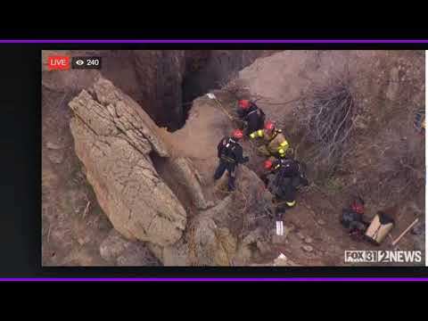 Person falls 100 feet down mine shaft
