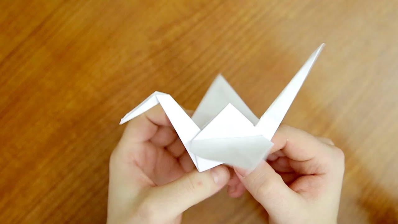 Журавлик оригами с поэтапным фото и видео описанием.