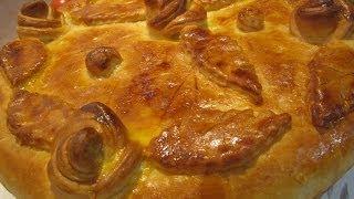 Рецепт- Мясной пирог из дрожжевого теста