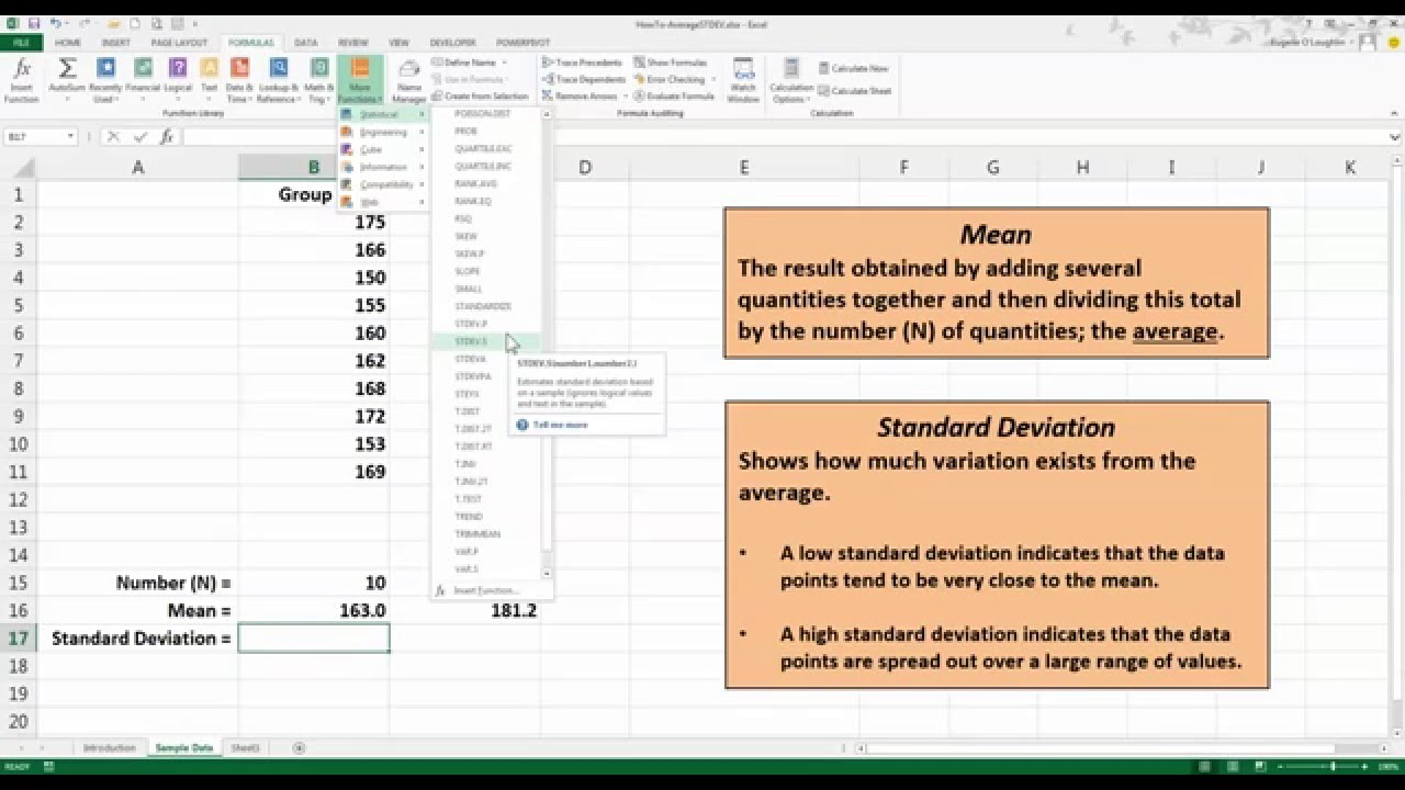 statistical functions in excel 2013 pdf