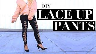 DIY Kim Kardashian Inspired Lace Up Pants | Half Baked