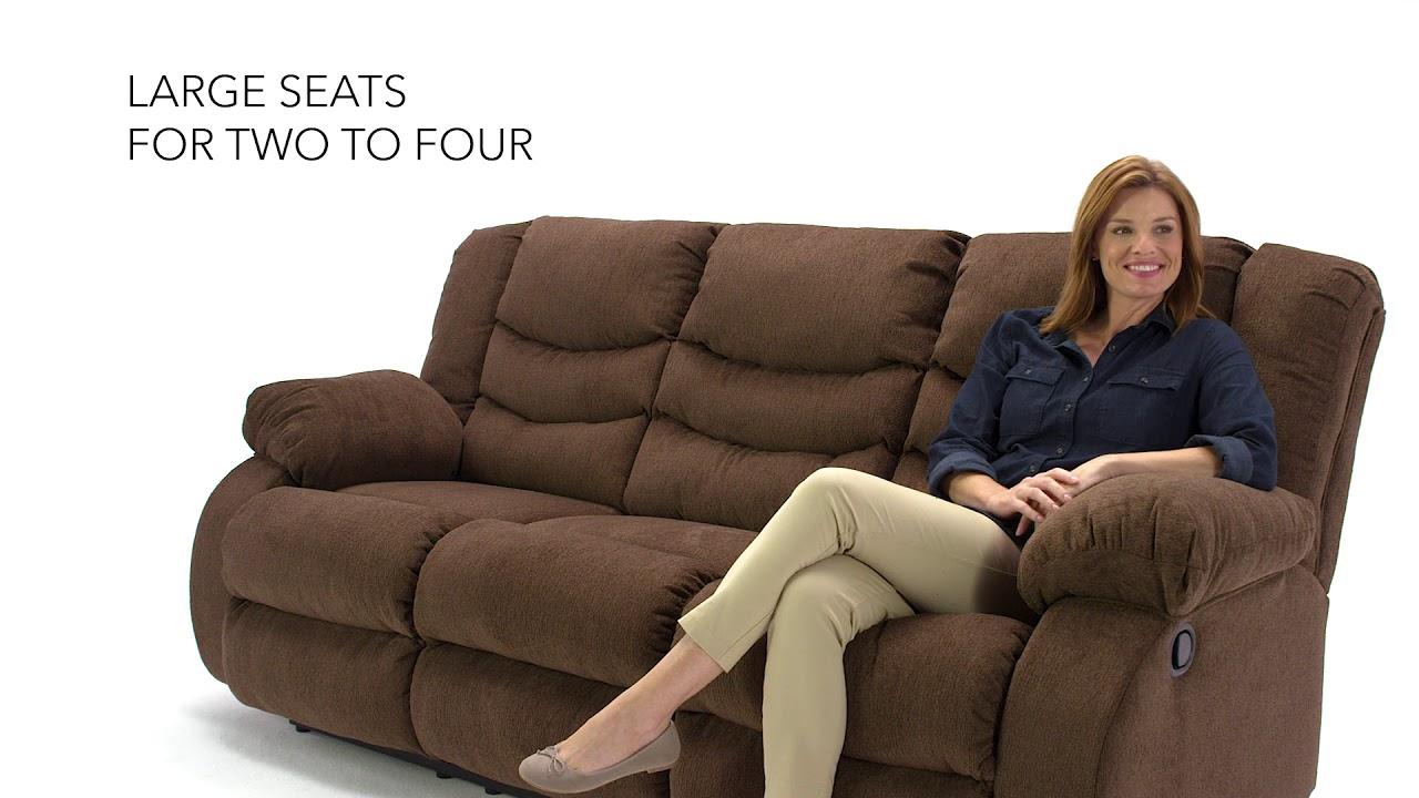 Ashley Homestore Tulen Reclining Sofa Youtube
