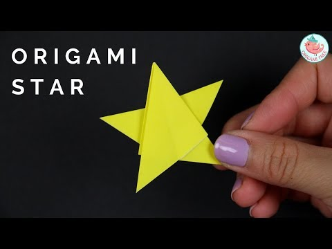 2D Origami Star Tutorial - How to Fold a 2D Origami Star - Paper Crafts