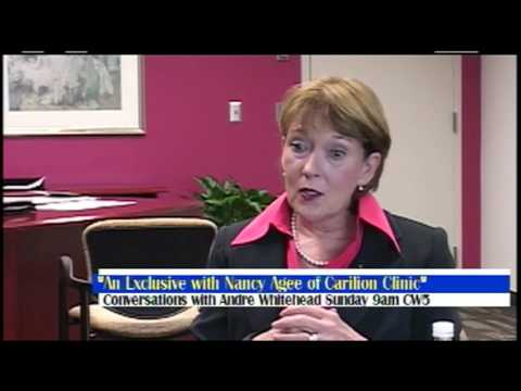 Conversations with Andre Whitehead The Nancy Agee CEO of Carillion Clinic Interview pt 2