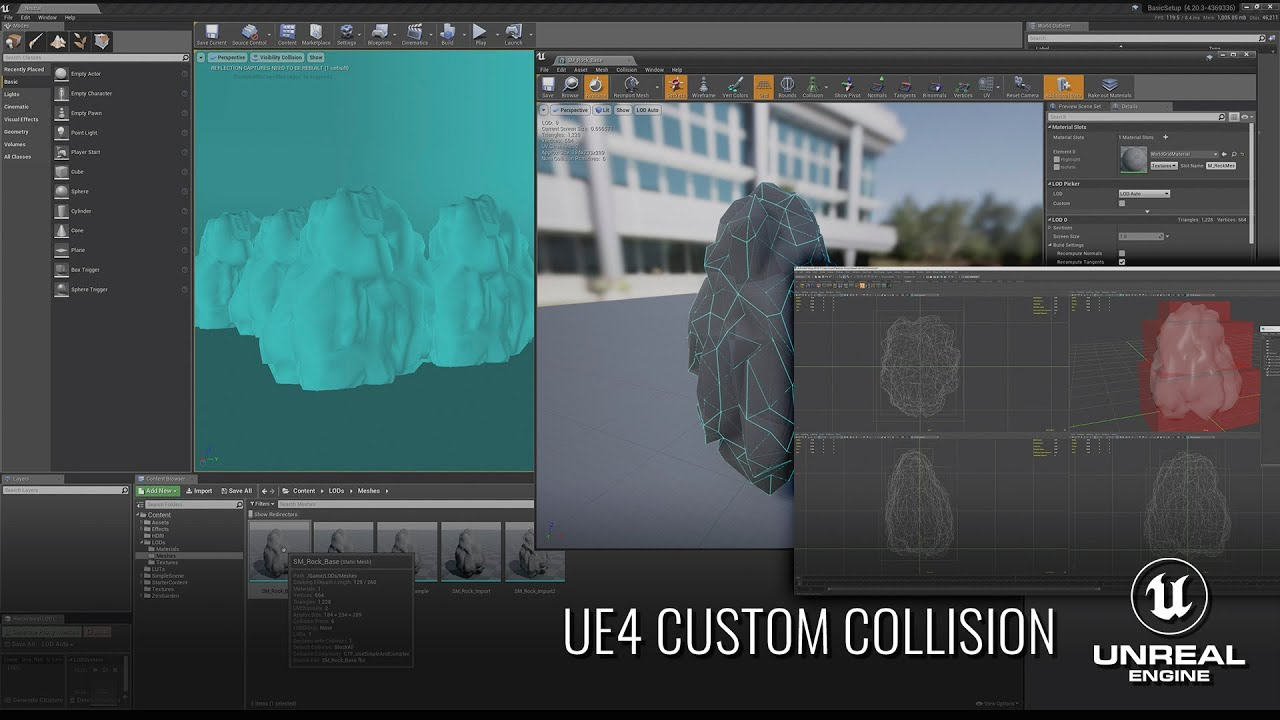 UE4 - Creating & Modifying Custom Collision