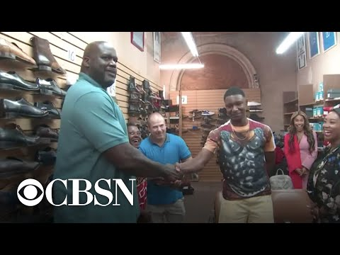Traci James - Shaq gifted teen 10 pairs of shoes because his mom couldn't afford them