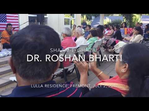 Ghazal singer Dr. Roshan Bharti performs in Fremont, California, USA
