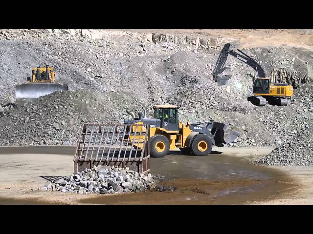 A Day at a rock Quarry HD