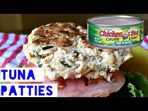 Healthy Tuna Patty Recipe   How To Make Low Fat, Low Carb Tuna Fish Patties