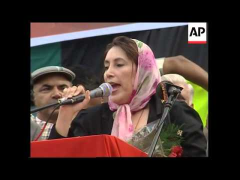 Benazir Bhutto launches campaign for Pakistan's elections