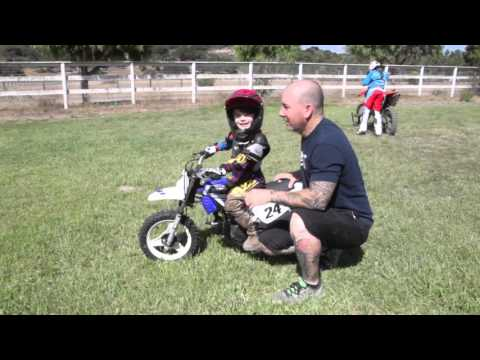 First Ride On The Yamaha PW50 - YouTube