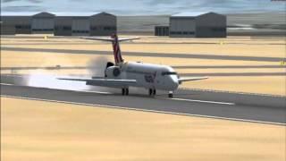 717 Volotea landing at Perpignan FSX