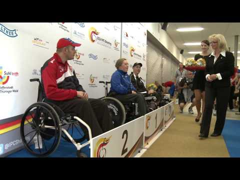 Medals Ceremony | R5 mixed 10m air rifle prone | 2014 IPC Shooting World Championships Suhl