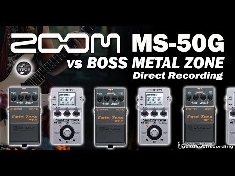 ZOOM MS50G Vs BOSS MT-2 Metal Zone Distortion - Direct Recording.