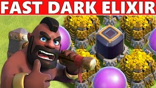 Clash Of Clans | FAST DARK ELIXIR! HOW!?! Town Hall 7, 8, 9 & 10 Farming Strategy!