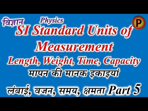 11P0405R Units of measurement - SI base units, derivatives, Length, Weight, Time & Capacity Part 5