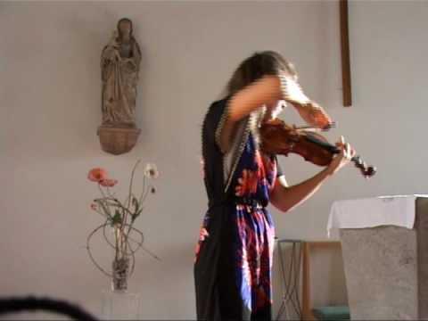 Paganini Caprice no.10 - violinist Valentina Svyatlovskaya