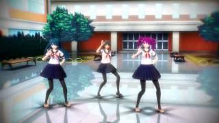 【MMD Yandere Simulator】 Spice 【Yandere-Chan, Saki Miyu, Kokona Haruka】