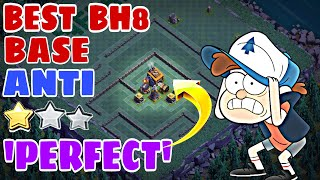 PERFECT Anti 2 Star Builder Hall 8 Base Design w /PROOF | June Update Bh8 Base with Extra Walls