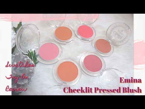 Emina Cheeklit Pressed Blush Swatches, Try On And Review All Shade
