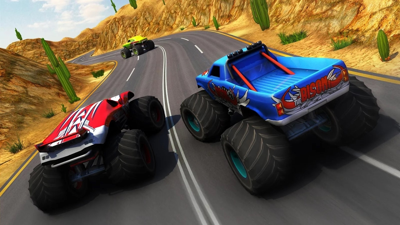 Monster Truck Racing Racing Games Videos Games For Kids Girls Baby Android Youtube