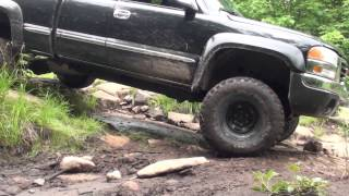 GMC Sierra lifted 4x4 offroad, belvedere trail