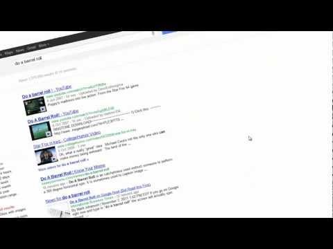 Do a Barrel Roll on Google