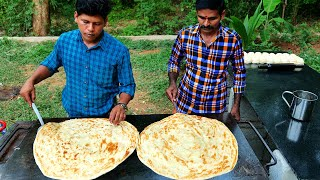 KING of BIG SIZE PAROTTA | How To Make Layered Soft Family Paratha | Kerala Paratha | Village Food