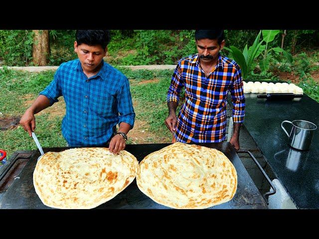 KING of BIG SIZE PAROTTA | How To Make Layered Soft Family Paratha | Kerala Paratha | Village Food