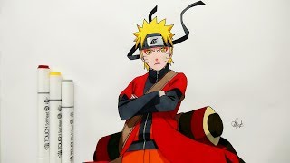 How To Draw Naruto Sage Mode - Step By Step (Tutorial) - Naruto Shippuden