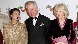 Prince Charles laughs with Bollywood beauties