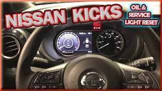 NISSAN KICKS RESET OIL SERVICE LIGHT DIY