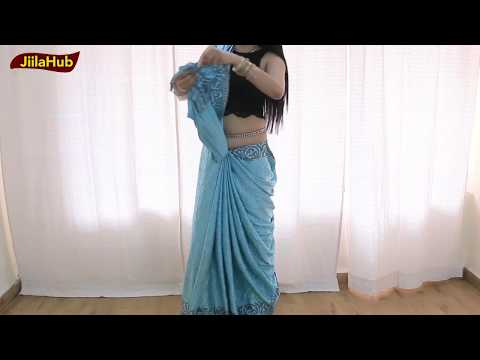 Ramp Model Saree Draping Style | How To wear A Sari To Look Slim Tall & Beautiful