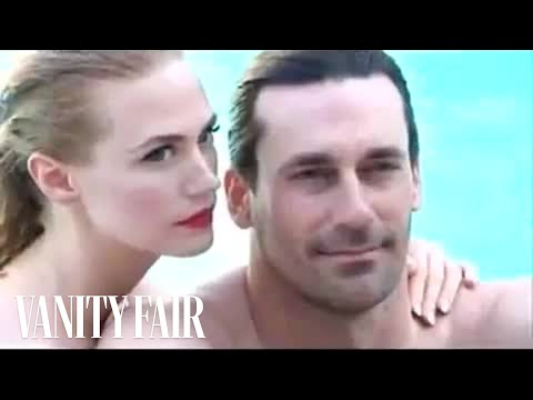 Mad Men's Don and Betty Draper (Jon Hamm and January Jones) Photographed by Annie Leibovitz