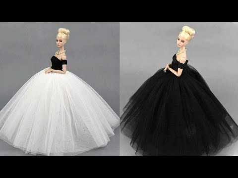 Amazing One Shouldered Gown in Blue and Pink Made to Fit Barbie Doll