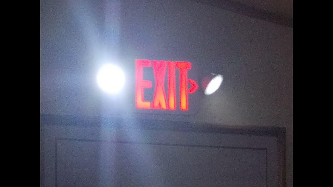 Exit Signs And Emergency Lighting During A Long Term Power Outage Hd Youtube