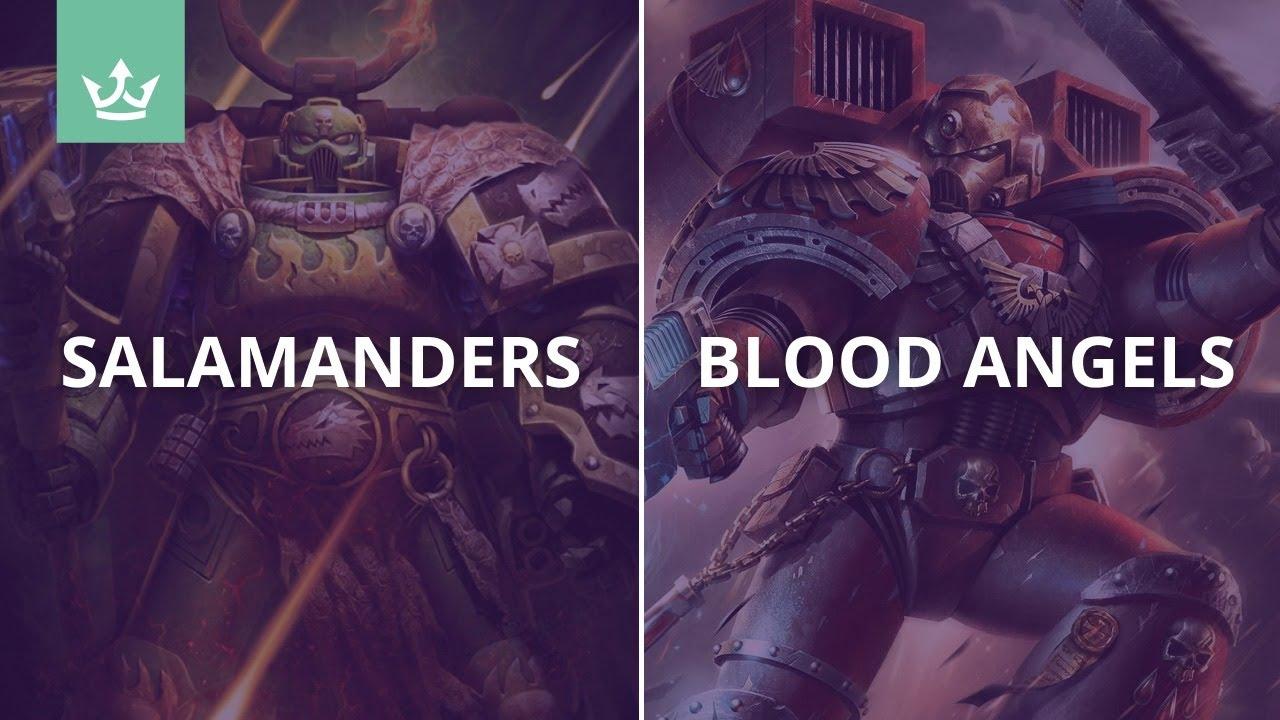 Salamanders vs Blood Angels - Warhammer 40k battle report - GT rules