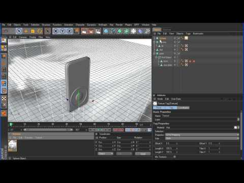 Cinema 4D Tutorial - Modeling a mp3 player - Part 3