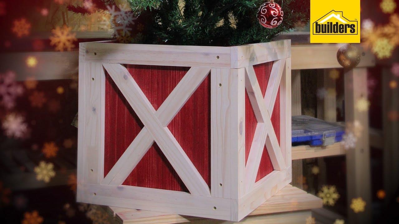 How to Make a Christmas Tree Stand Box - YouTube