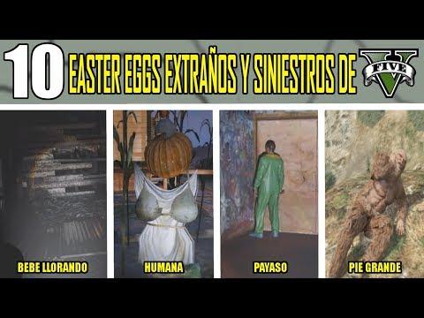 10 EASTER EGGS EXTRAÑOS Y SINIESTROS DE GTA V (GRAND THEFT AUTO 5) thumbnail