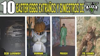 10 EASTER EGGS EXTRAÑOS Y SINIESTROS DE GTA V (GRAND THEFT AUTO 5)