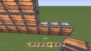 Minecraft PS4 Automatic (oak) tree farm tutorial