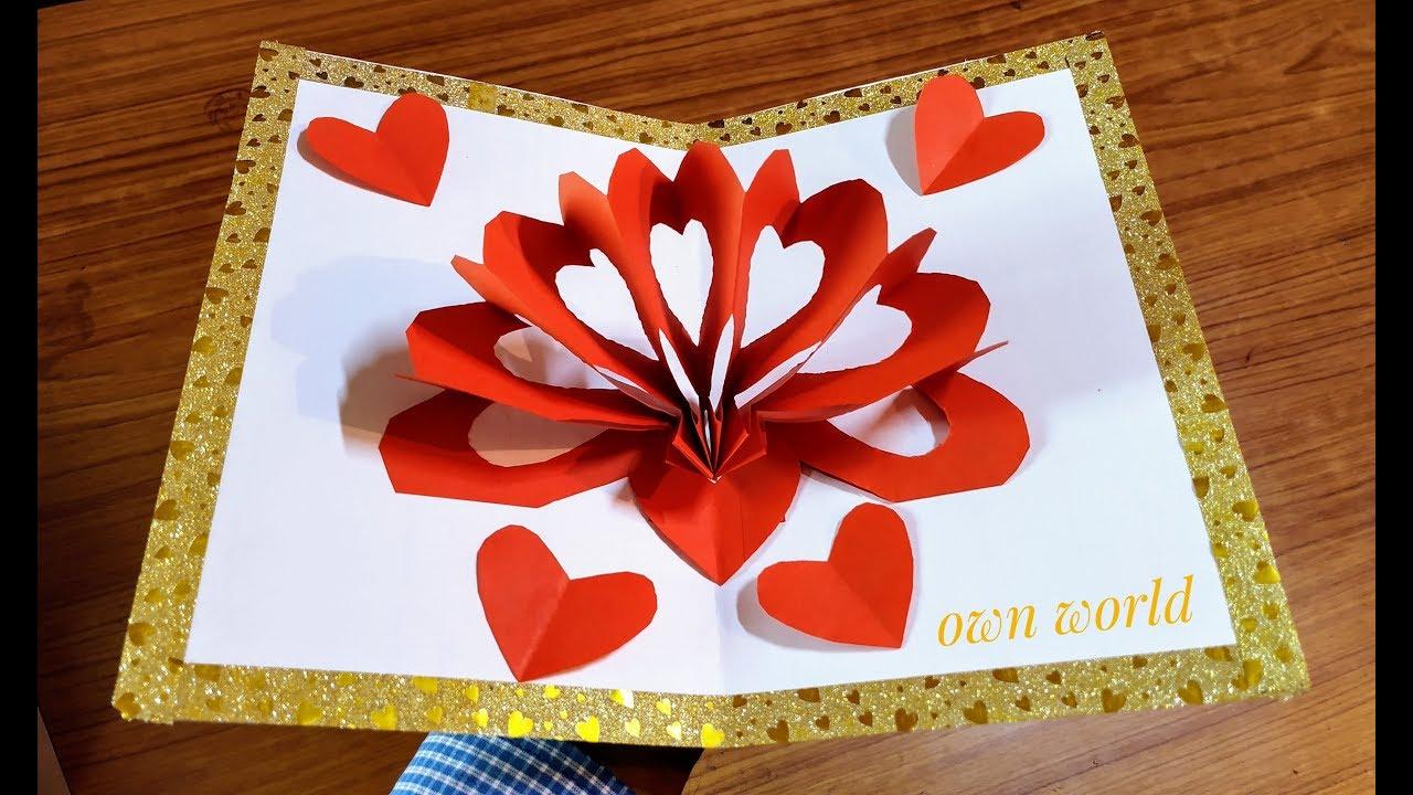 Diy 3d Heart Pop Up Card Valentine Pop Up Card Pop Up Valentine Cards Pop Up Card Templates Valentines Cards