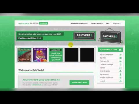 How to Earn money -10$-80$ daily – Paidverts [  2015 – BEST PTC SITE IN THE WORLD ]