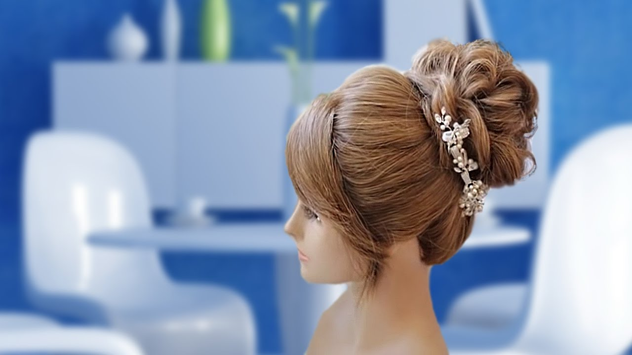 cute messy bun hairstyle for prom - muvicut hairstyles for girls