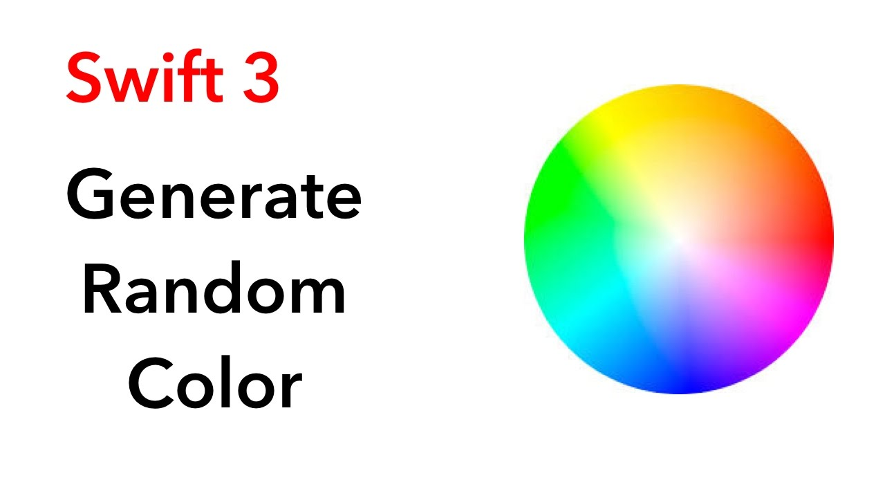 How To Generate Random Color Swift 3 Xcode 821