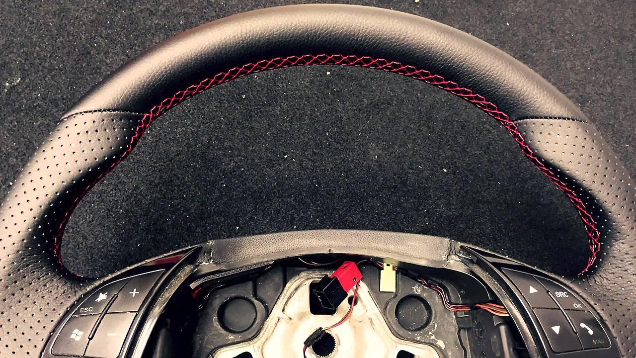 Tapizado volante y Pomo Palanca de cambios en un Fiat Bravo - YouTube