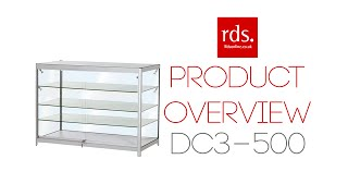 Dc3-500 Jewellery Display Cabinet 3 Glass Shelves